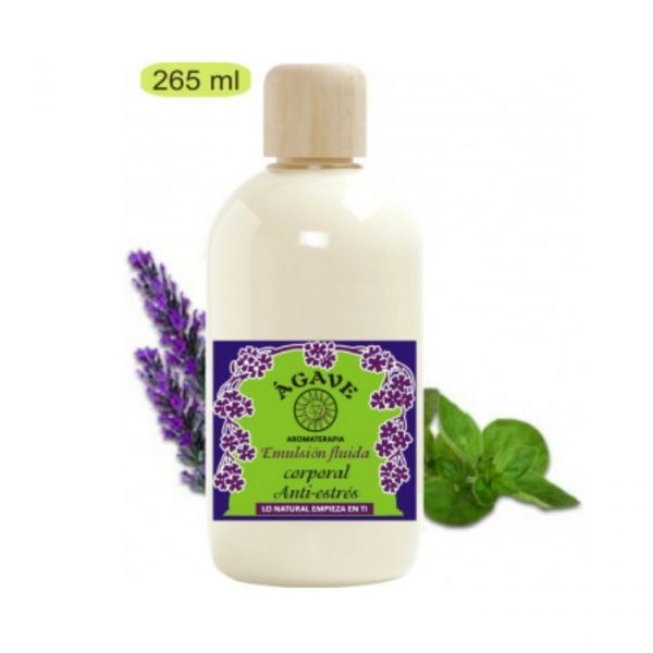 leche corporal antiestres agave